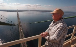 Atop the Mackinac Bridge