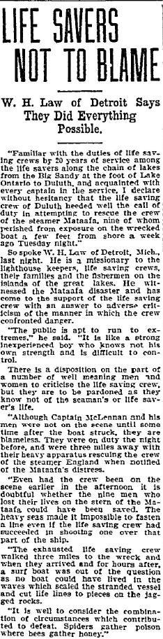 Duluth News Tribune, Dec. 8th 1905