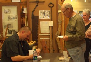 "Signing ""Sky Pilot of the Great Lakes"" at the LCHA"